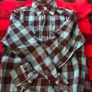 "Blue and Black ""Flannel"" Shirt (Arizona)"